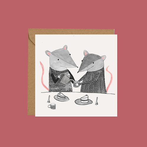 Valentine's Mice Greetings Card