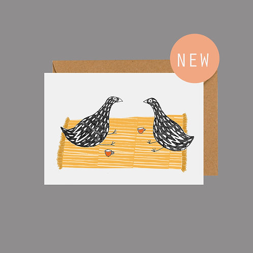 'Just to say' bird greetings card