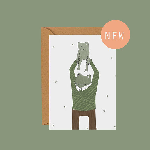 New dad frog card