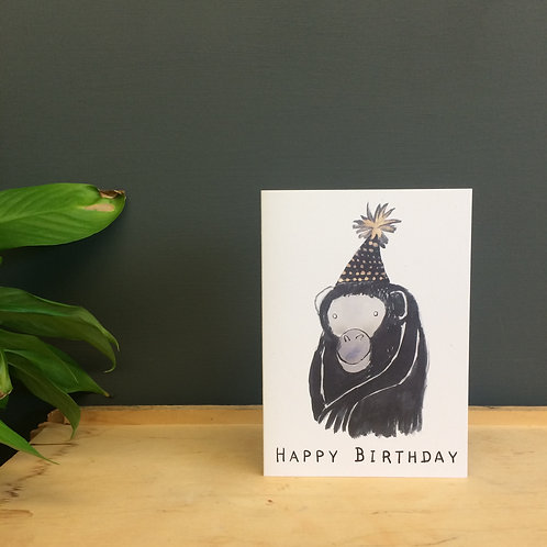 'Happy Birthday' monkey greetings card