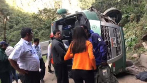 Bus se accidenta en Machu Picchu y deja 10 heridos
