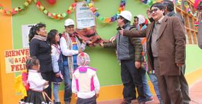 Gobernador regional edwin licona inaugura la infraestructura de Inicial Virgen del carmen - Tinke