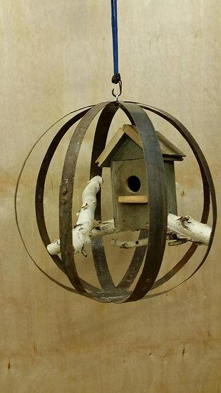 Wine Barrel Bird House Orb