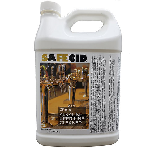 Safecid CR919 Alkaline Beer Line Cleaner Gallon FREE SHIPPING