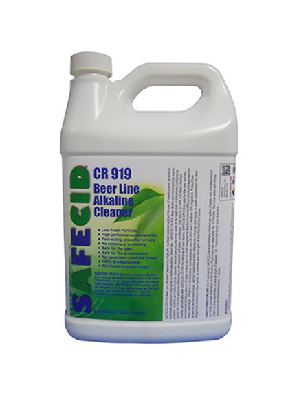 Safecid CR919 Alkaline Beer Line Cleaner Gallon FREE SHIPPING