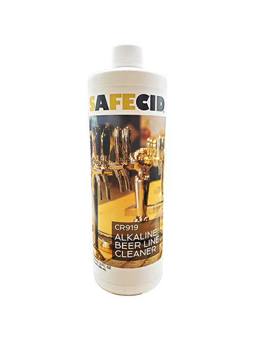 Safecid CR919 Alkaline Beer Line Cleaner - Quart FREE SHIPPING
