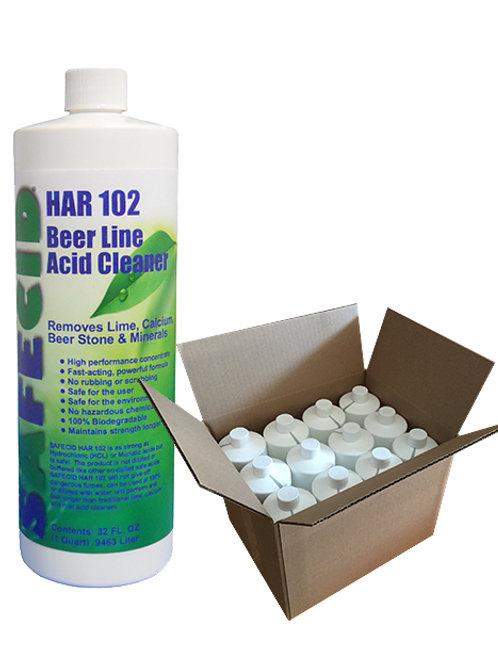 Safecid HR102 Acid Beer Line Cleaner - Quart (12 per case) FREE SHIPPING
