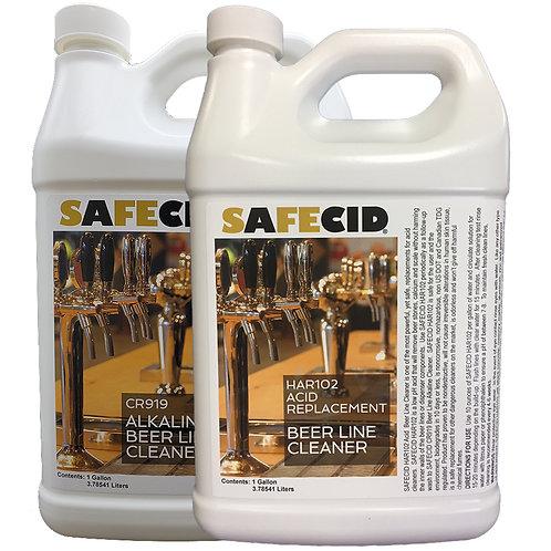 Safecid Alkaline/Acid Beer Line Cleaner Gallon 2-Pak FREE SHIPPING