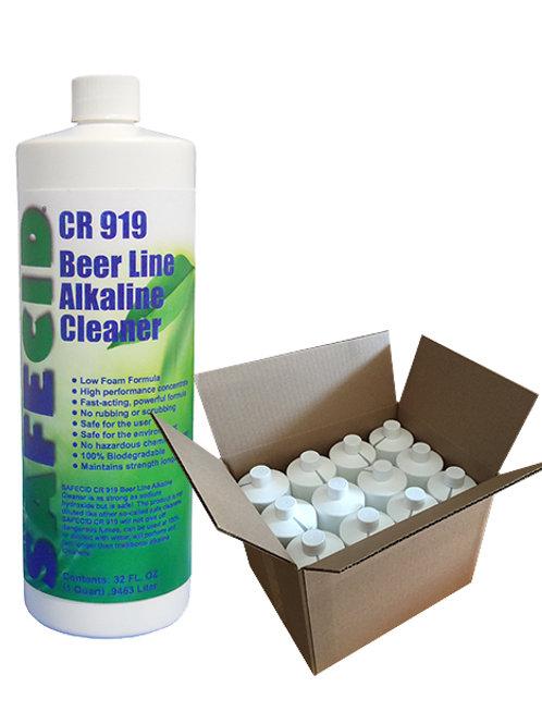 Safecid CR919 Alkaline Beer Line Cleaner - Quart (case of 12) FREE SHIPPING