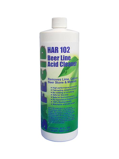 Safecid HR102 Acid Beer Line Cleaner - Quart FREE SHIPPING
