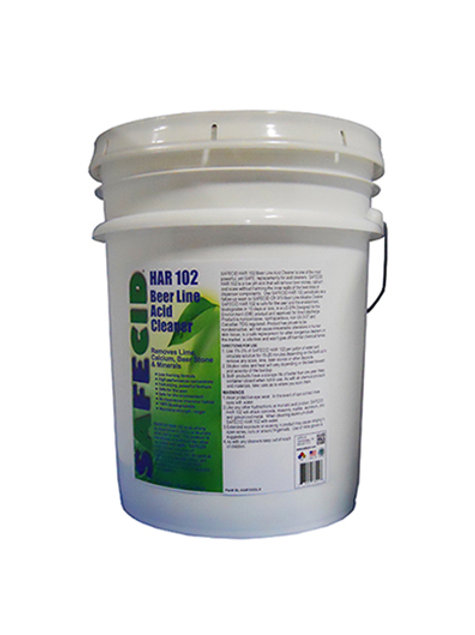 Safecid HR102 Acid Beer Line Cleaner - 5 Gallon Pail