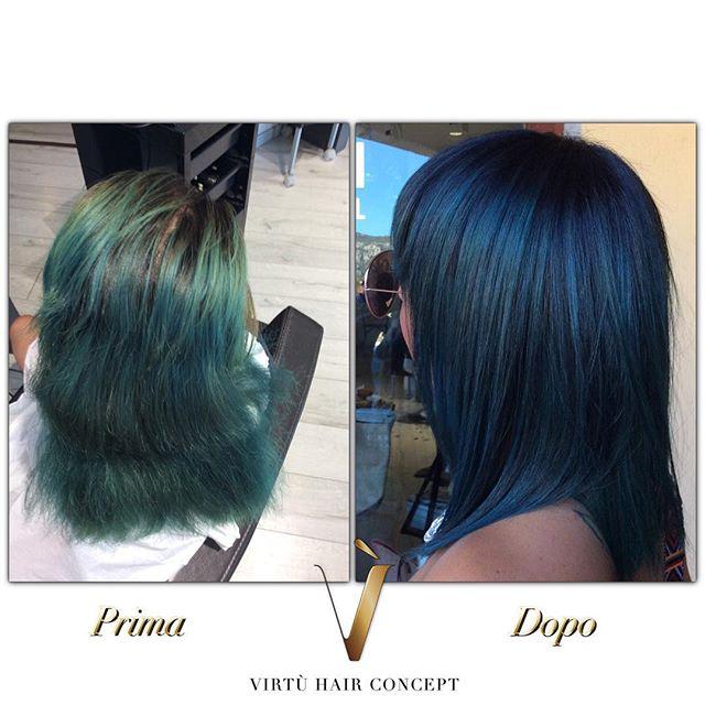 Prima e dopo _#senzafiltri #primaedopo #colore #capelli #hair #hairblog #virtuhairconcept #hair #par