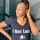 "Thumbnail: Ladies  ""I ROC LOCS"" T-shirt  ( BLACK )"