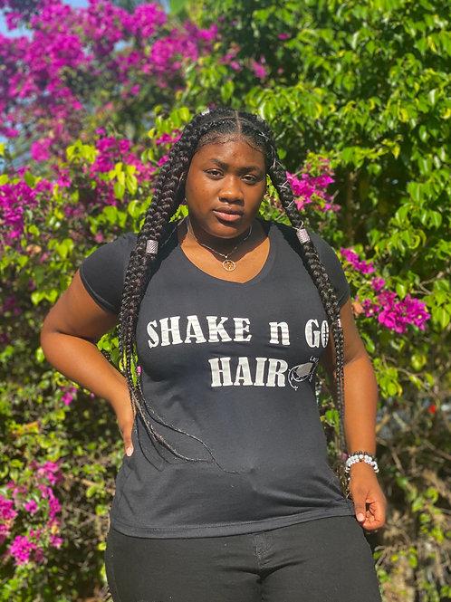 """Ladies """"SHAKE & GO HAIR"""" shirts (BLACK)"""