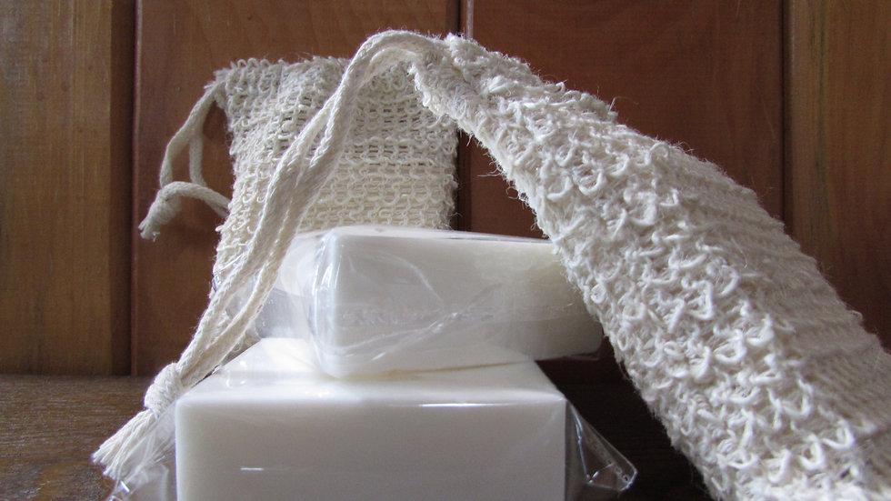 CBD - Cocoa Butter Soap & Exfoliating Bag