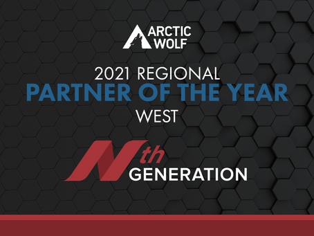 Nth Generation, Inc. Named 2021 West Region Partner of the Year by Arctic Wolf