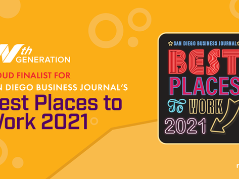 Nth Generation is proud to be a finalist (3 years in a row!) for the 2021 Best Places to Work!