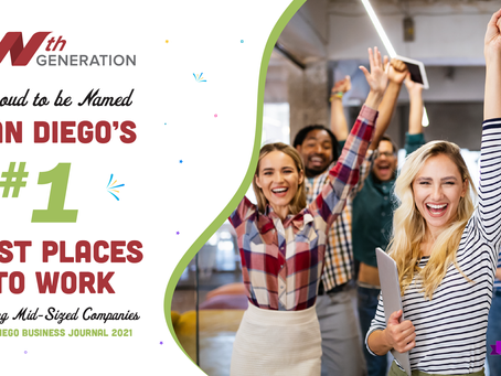 Nth Generation is thrilled to be named WINNER of the 2021 Best Places to Work!