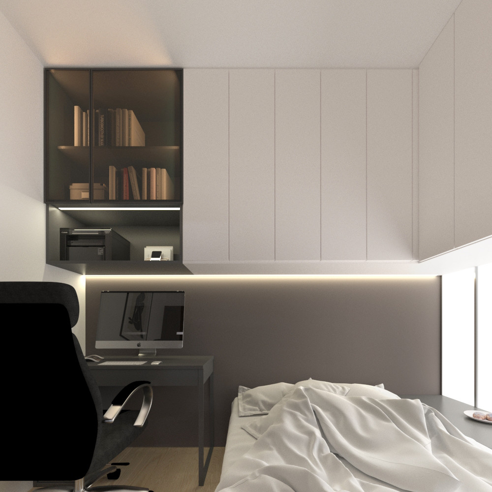 tutka.no-modern bedroom led panels grey