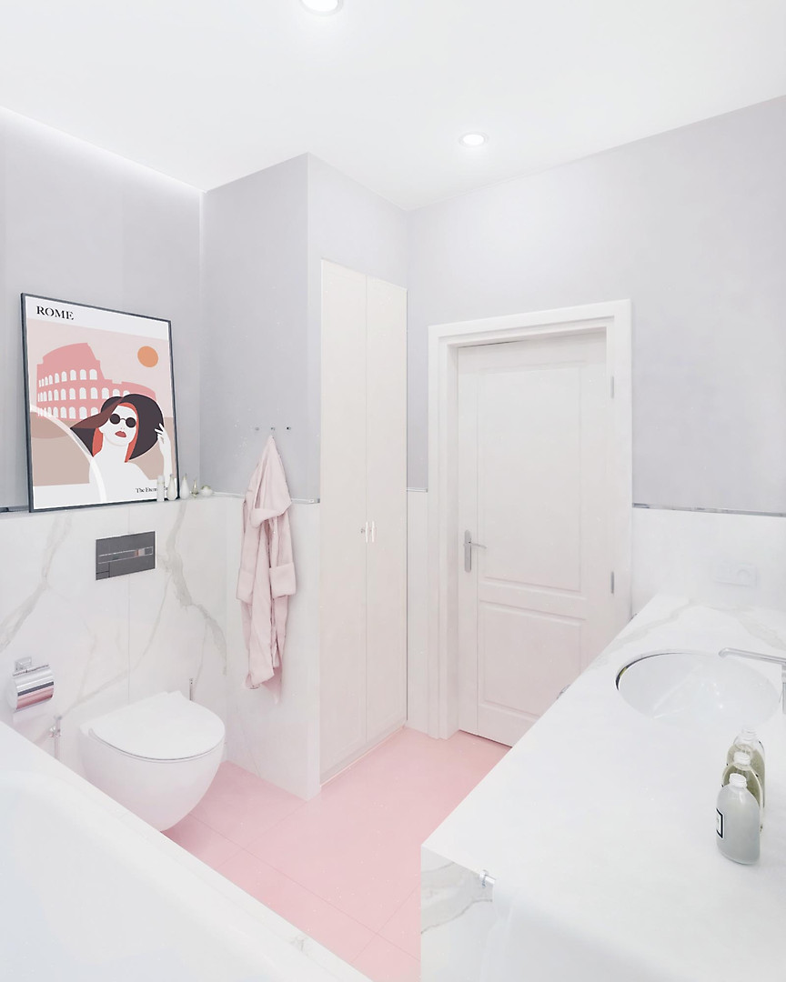 bathroom_grey_pink_round_mirror_marble (