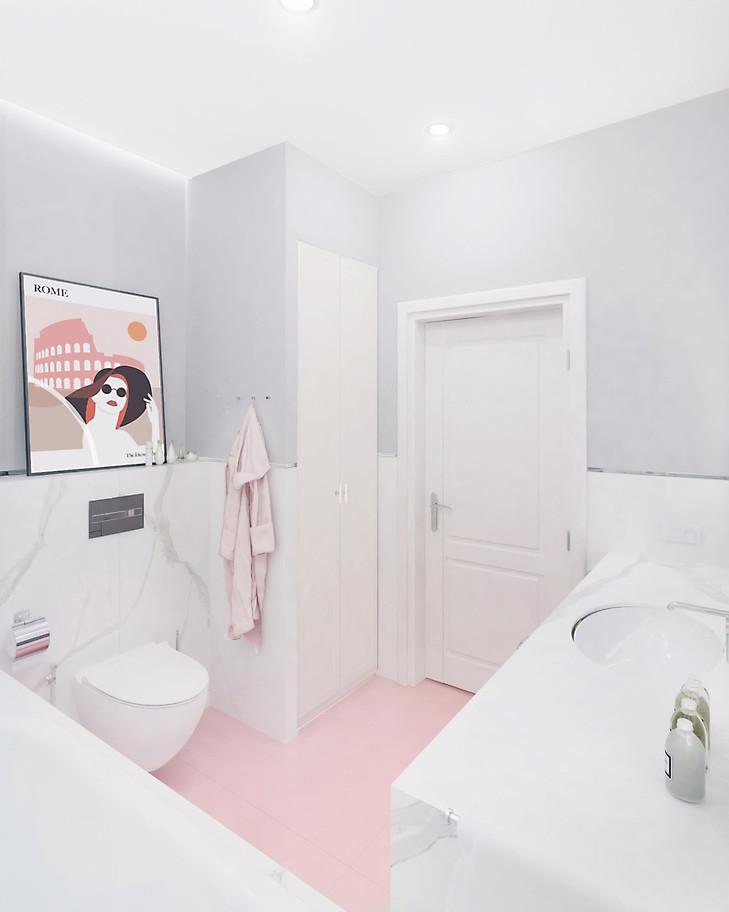bathroom_grey_pink_round_mirror_marble (