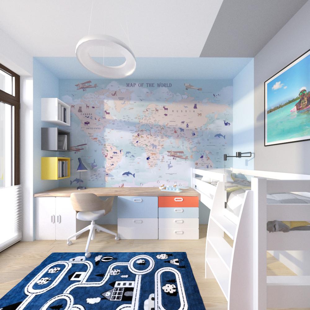 tutka.no-child room blue grey orange (1)
