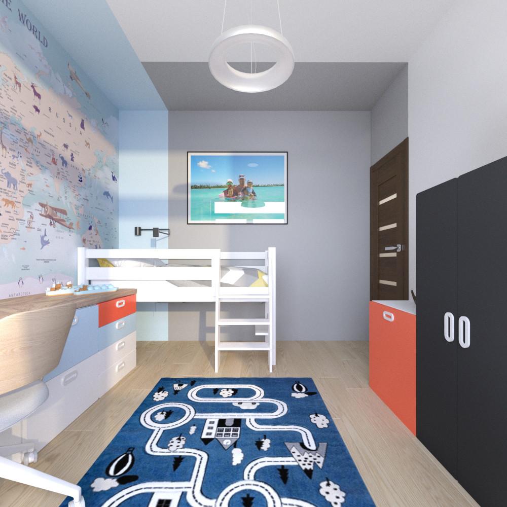 tutka.no-child room blue grey orange (3)