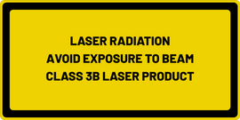 LASER RADIATION AVOID EYE OR SKIN EXPOSURE TO DIRECT OR SCATTERED RADIATION CLASS 3B LASER PRODUCT