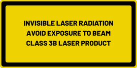 INVISIBLE LASER RADIATION AVOID EYE OR SKIN EXPOSURE TO DIRECT OR SCATTERED RADIATION CLASS 3B LASER PRODUCT