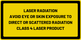 LASER RADIATION AVOID EYE OR SKIN EXPOSURE TO DIRECT OR SCATTERED RADIATION CLASS 4 LASER PRODUCT