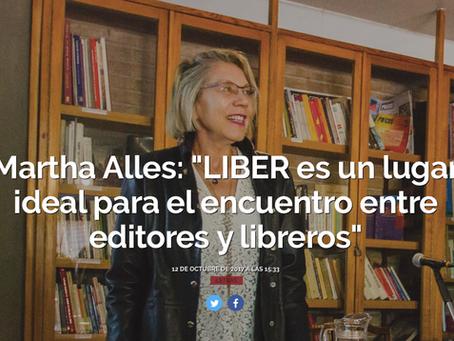 Invitada a LIBER, feria del libro Española
