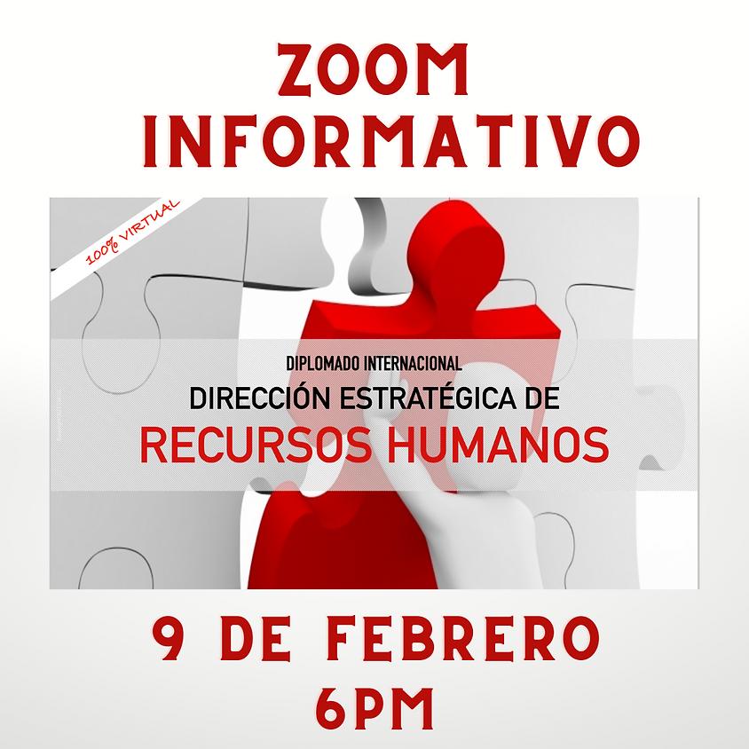 Zoom Informativo Diplomado Dirección Estratégica de RRHH