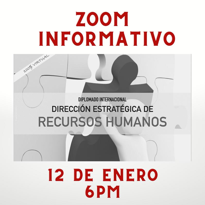 Zoom Informativo Diplomado Internacional Dirección Estratégica de RRHH