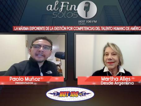 Entrevista en Radio Hot106 Fuego - Ecuador