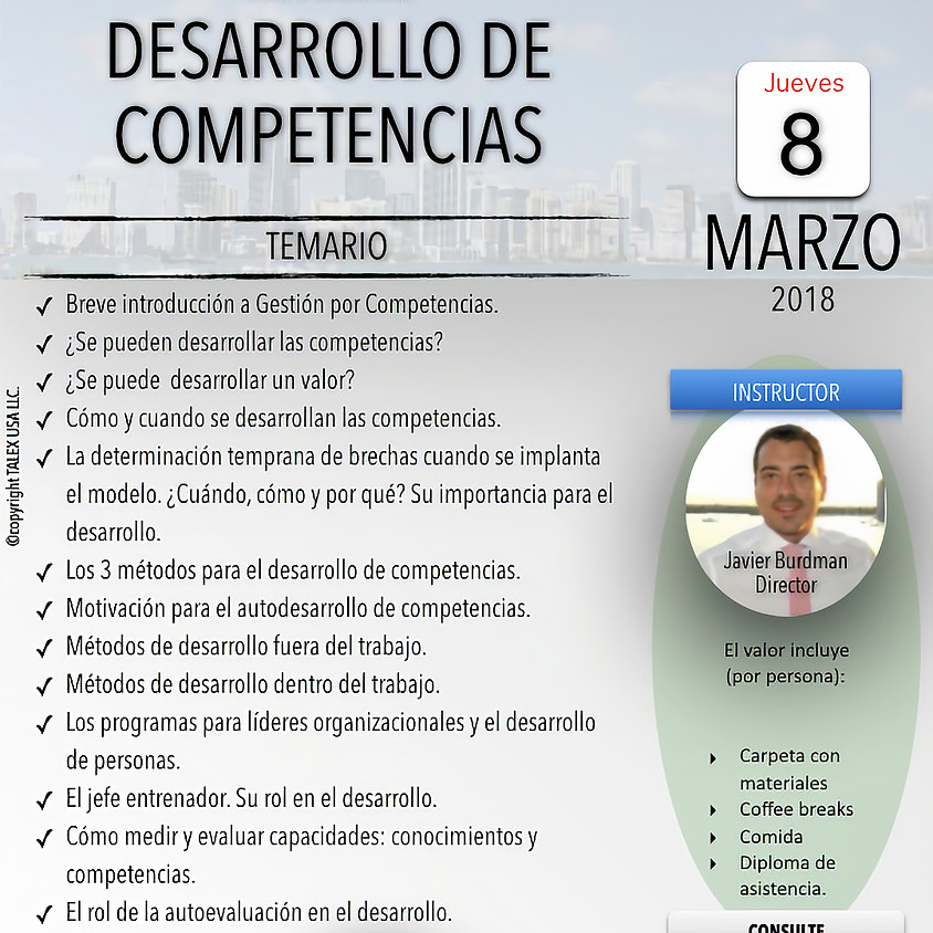 Desarrollo por Competencias