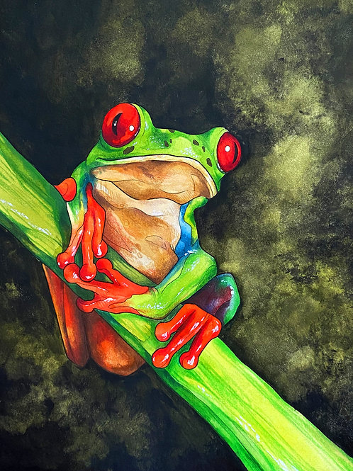 "*ORIGINAL* ""Hangin' Around"" - Watercolour."