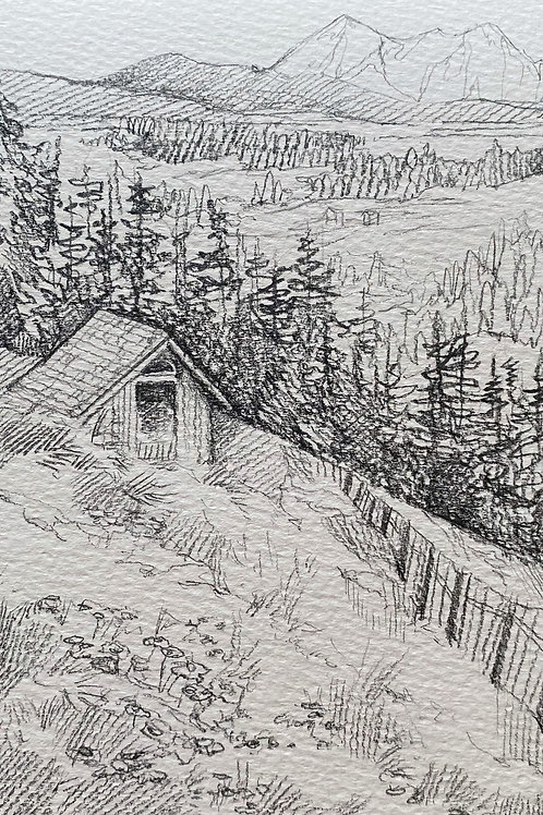 """""""Cabin in the Woods"""" - Art Print."""