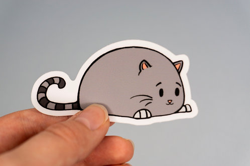 """Chonky Cat"" - Sticker."