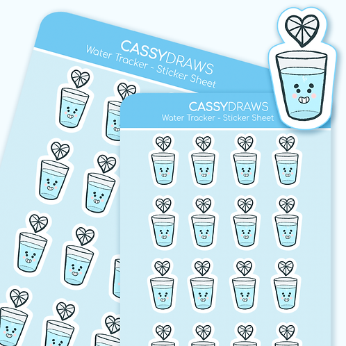 Water Tracker - Sticker Sheet