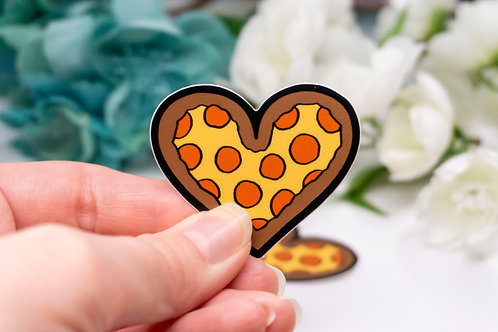 """Pizza Heart"" - Sticker."
