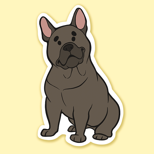 """French Bulldog"" - Sticker."