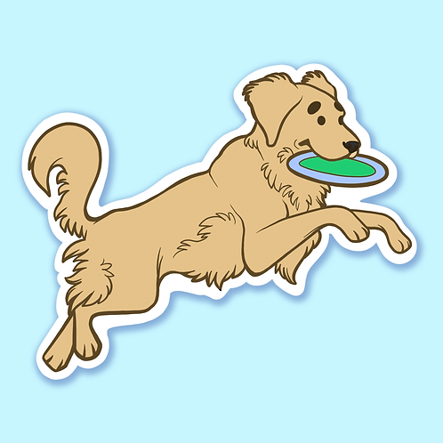 """Golden Retriever"" - Sticker."