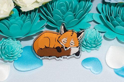"""""""Sleepy Fox"""" - Acrylic Pin."""""""