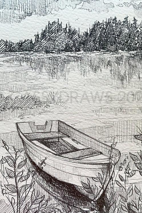 """""""Quiet Waters"""" - Art Print."""