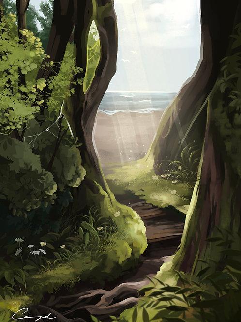 """Through the Trees"" - Art Print."