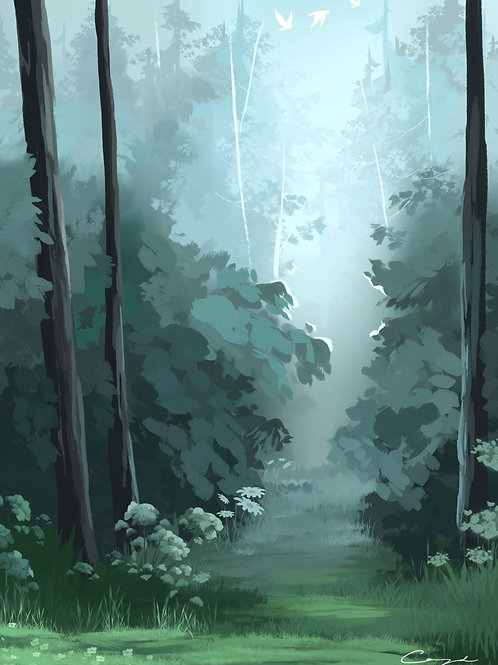 """Misty Path"" - Art Print."