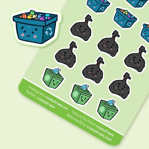 Garbage & Recycle - Sticker Sheet
