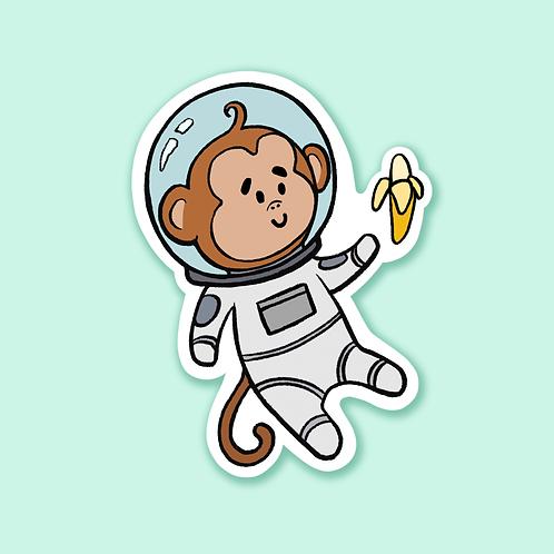 """""""Monkey in Space"""" - Sticker."""