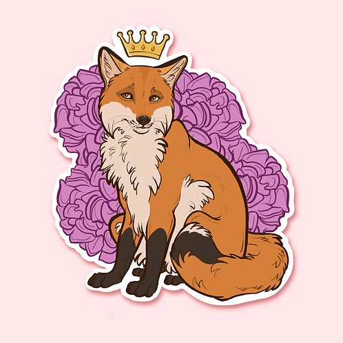 """Royalty Series - Fox"" - Sticker."