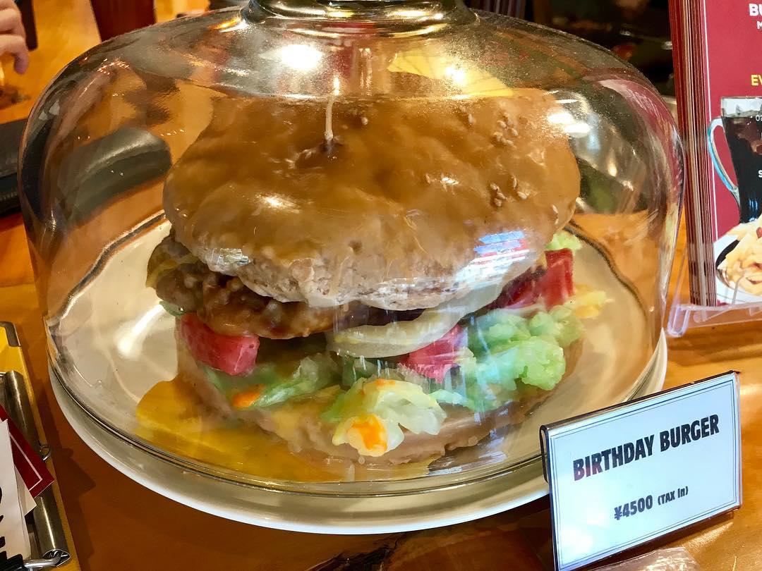 バースデーハンバーガー